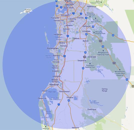Perth Rockingham Mandurah Map